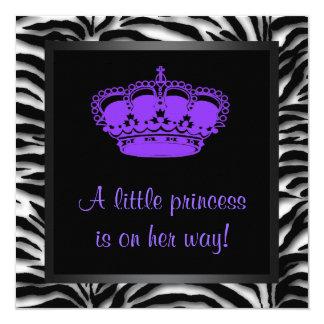 """Fiesta de bienvenida al bebé de princesa Crown Invitación 5.25"""" X 5.25"""""""