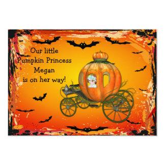 """Fiesta de bienvenida al bebé de princesa Halloween Invitación 5"""" X 7"""""""