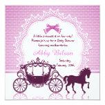 Fiesta de bienvenida al bebé de princesa Horse Invitación 13,3 Cm X 13,3cm