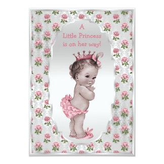 Fiesta de bienvenida al bebé de princesa Pink Invitación 12,7 X 17,8 Cm