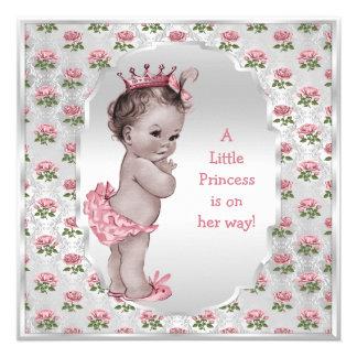 Fiesta de bienvenida al bebé de princesa Pink Rose Comunicados Personalizados