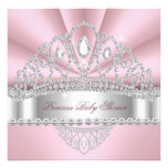 Fiesta de bienvenida al bebé de princesa Pink Whit Invitaciones Personales