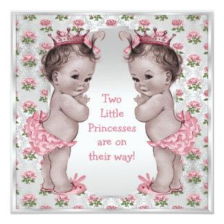 """Fiesta de bienvenida al bebé de princesa Roses Invitación 5.25"""" X 5.25"""""""
