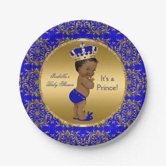 Fiesta de bienvenida al bebé de príncipe Crown del Plato De Papel De 7 Pulgadas