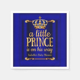 Fiesta de bienvenida al bebé de príncipe On His Servilletas Desechables