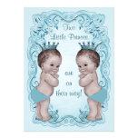 Fiesta de bienvenida al bebé de príncipes Boy Twin Comunicado Personal