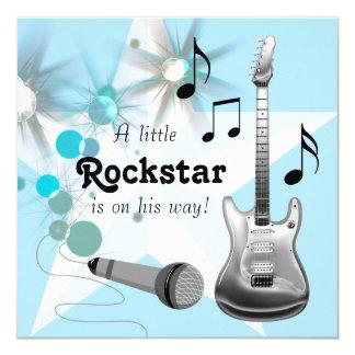 """Fiesta de bienvenida al bebé de Rockstar de los Invitación 5.25"""" X 5.25"""""""