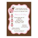 fiesta de bienvenida al bebé de señora Bug de 5x7 Invitación 12,7 X 17,8 Cm