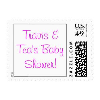 ¡Fiesta de bienvenida al bebé de Travis y del té! Estampillas