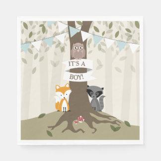 Fiesta de bienvenida al bebé del arbolado - servilleta de papel