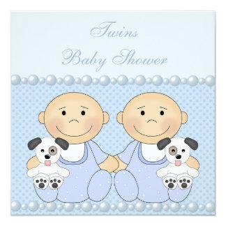 Fiesta de bienvenida al bebé del azul de los invitación 13,3 cm x 13,3cm