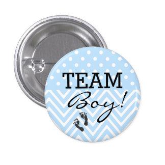 Fiesta de bienvenida al bebé del azul del muchacho pin redondo 2,5 cm