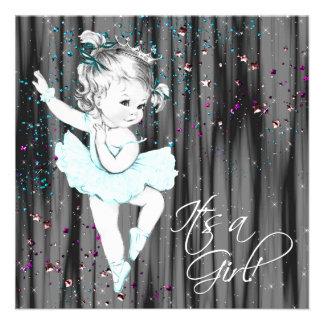 Fiesta de bienvenida al bebé del azul del trullo comunicado personalizado