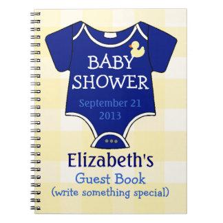 Fiesta de bienvenida al bebé del azul real libros de apuntes