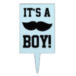 Fiesta de bienvenida al bebé del bigote del muchac figura para tarta