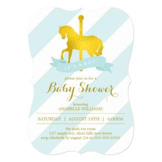 """Fiesta de bienvenida al bebé del caballo del invitación 5"""" x 7"""""""