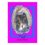 Fiesta de bienvenida al bebé del capo del gatito q invitación personalizada