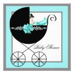 Fiesta de bienvenida al bebé del carro de bebé azu