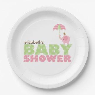 Fiesta de bienvenida al bebé del chica del platos de papel