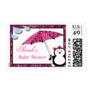 Fiesta de bienvenida al bebé del chica del timbre postal