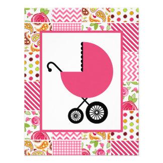 Fiesta de bienvenida al bebé del chica - remiendo comunicados