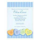 Fiesta de bienvenida al bebé del corazón de la con invitaciones personalizada