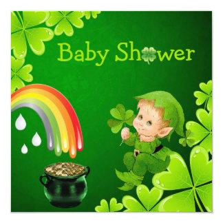 """Fiesta de bienvenida al bebé del día de St Patrick Invitación 5.25"""" X 5.25"""""""
