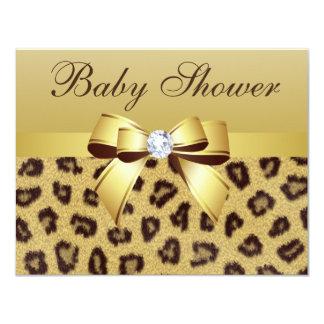 Fiesta de bienvenida al bebé del estampado invitación 10,8 x 13,9 cm