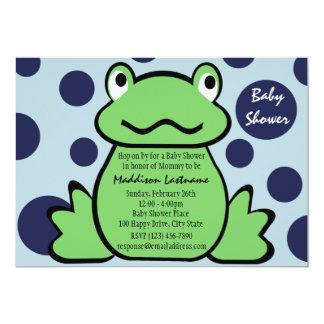 """Fiesta de bienvenida al bebé del Froggy Invitación 5"""" X 7"""""""