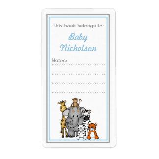 Fiesta de bienvenida al bebé del gris azul de los  etiquetas de envío