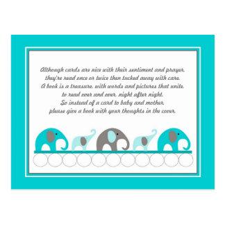 Fiesta de bienvenida al bebé del libro del parte tarjetas postales