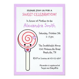 Fiesta de bienvenida al bebé del Lollipop del Invitación 12,7 X 17,8 Cm