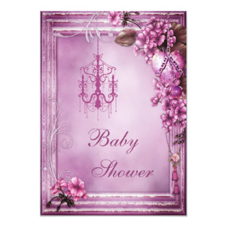 Fiesta de bienvenida al bebé del marco de la invitación 12,7 x 17,8 cm
