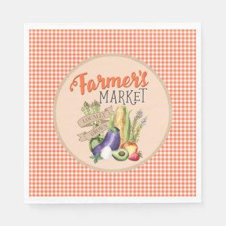 Fiesta de bienvenida al bebé del mercado de los servilletas de papel