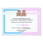 Fiesta de bienvenida al bebé del oso de peluche - comunicados personalizados