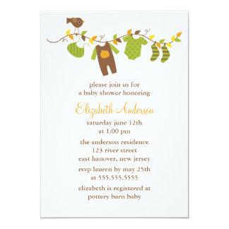 Fiesta de bienvenida al bebé del otoño invitación 12,7 x 17,8 cm