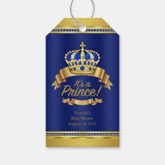 Fiesta de bienvenida al bebé del Príncipe heredero Etiquetas Para Regalos