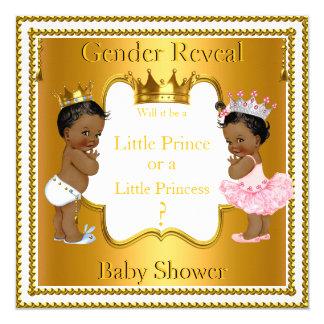 """Fiesta de bienvenida al bebé del príncipe princesa invitación 5.25"""" x 5.25"""""""