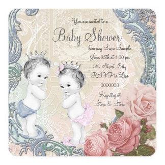 Fiesta de bienvenida al bebé del príncipe y de invitación 13,3 cm x 13,3cm