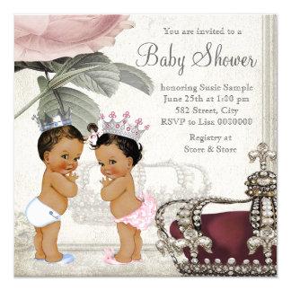 """Fiesta de bienvenida al bebé del príncipe y de invitación 5.25"""" x 5.25"""""""