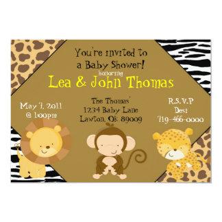 Fiesta de bienvenida al bebé del safari invitaciones personales