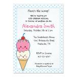 Fiesta de bienvenida al bebé del Social del helado Invitaciones Personalizada