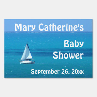 Fiesta de bienvenida al bebé del velero letreros