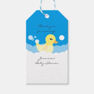 Fiesta de bienvenida al bebé Ducky de goma del Etiquetas Para Regalos
