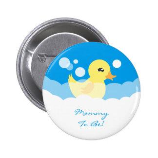 Fiesta de bienvenida al bebé Ducky de goma del Pin Redondo 5 Cm