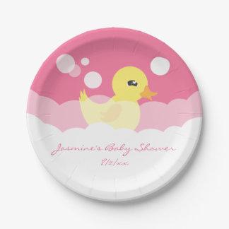 Fiesta de bienvenida al bebé Ducky de goma del Platos De Papel