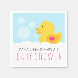 Fiesta de bienvenida al bebé Ducky de goma del Servilleta Desechable