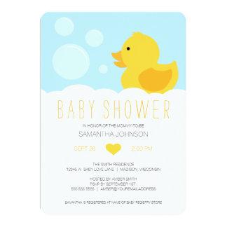 """Fiesta de bienvenida al bebé Ducky de goma Invitación 5"""" X 7"""""""