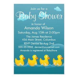 """Fiesta de bienvenida al bebé Ducky de goma linda Invitación 5"""" X 7"""""""