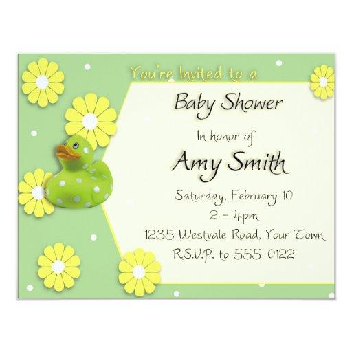 Fiesta de bienvenida al bebé Ducky Invitación Personalizada